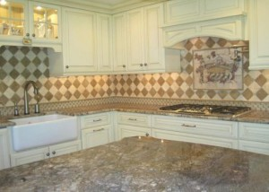 Porcelain mosaic glass kitchen tiles