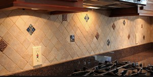 French country kitchen tiles